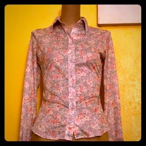 Tops - Vintage 70s ditsy floral button down shirt